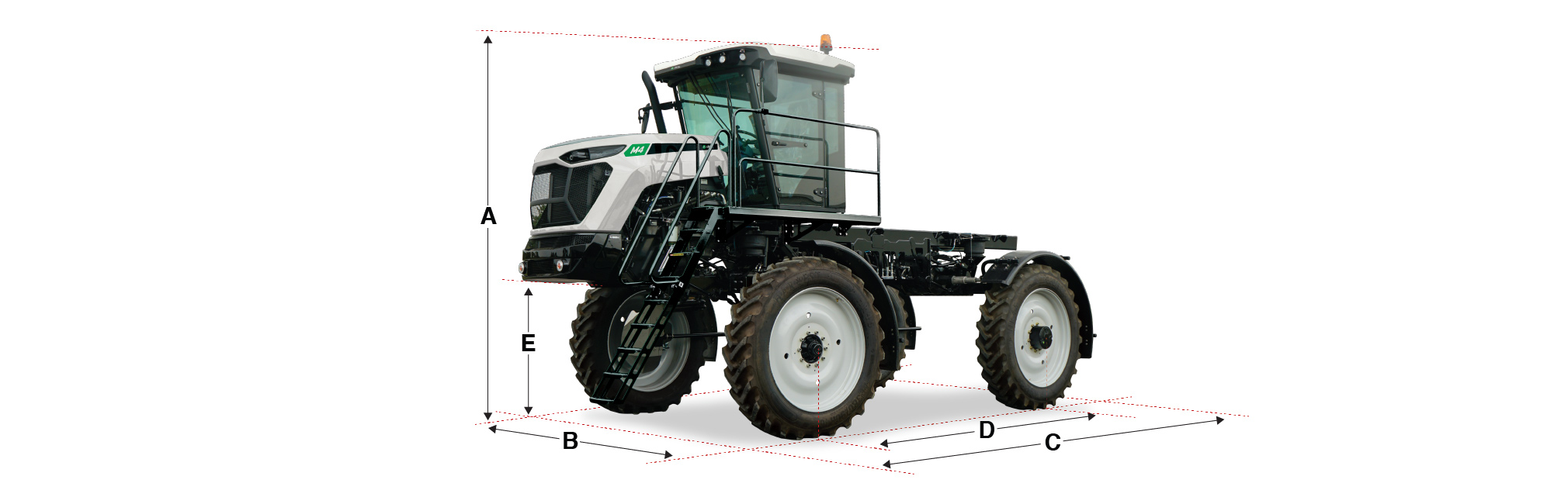 M4 Cab Chassis dimensions