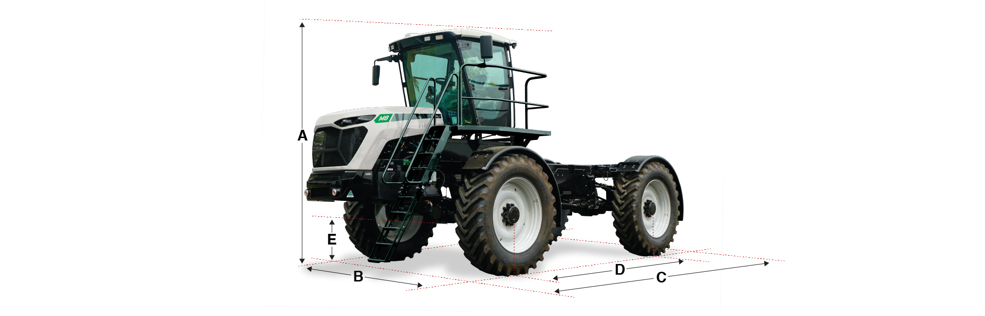 M8 Cab Chassis dimensions